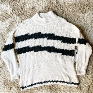 NEW 1 State Cozy Mock Neck Pullover Knit Sweater